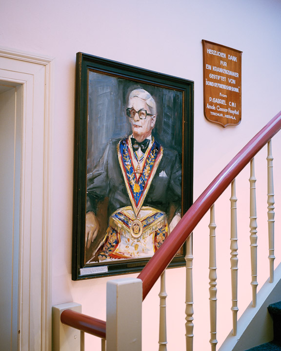 Portrait of a Past Master of 'Friedrich Wilhelm zum Eisernen Kreuz' Lodge, Bonn, Germany, 2012.