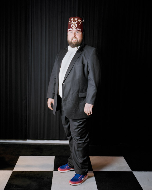 Member of 'Emirat Shriners Europe' and 'Zu den Romeriken Bergen' Lodge, Remscheid, Germany, 2016. The Ancient Arabic Order of the Nobles of the Mystic Shrine, or Shriners for short, is an appendant body of Freemasonry. They describe themselves as a fraternity based on fun and have a charitable purpose.