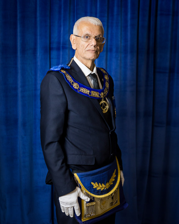 Assistant Grand Master of the Grand Lodge of the State of Israel and member of 'Na'aman No. 61' Lodge in Haifa. Photographed in Tel Aviv, Israel, 2016.