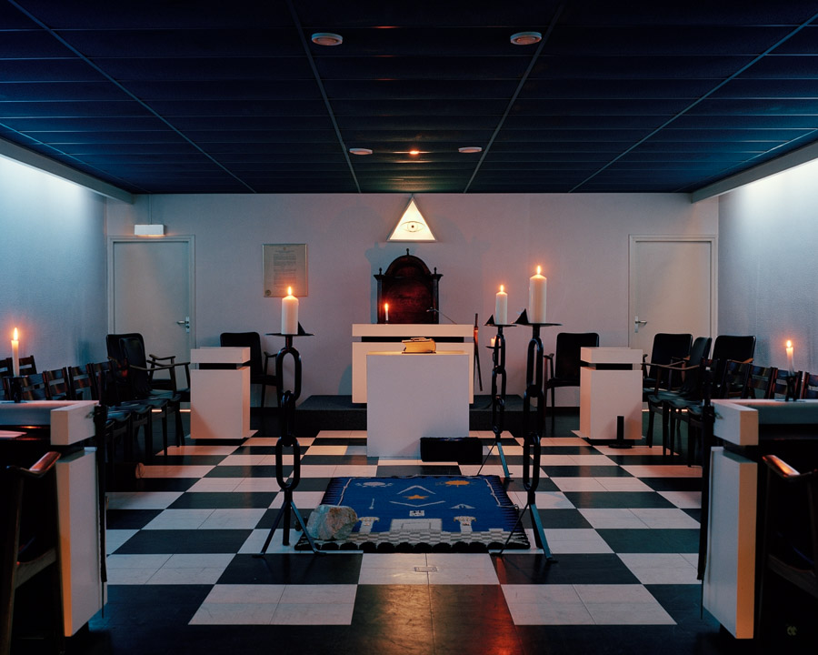 Temple of 'De Schakel' Lodge, set up for the 1st degree, Dordrecht, The Netherlands, 2013.