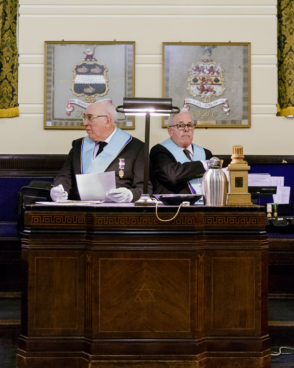 Members of 'Terpsichore Lodge No. 7454' preparing for the meeting at 'Freemasons' Hall', London, England, 2015.