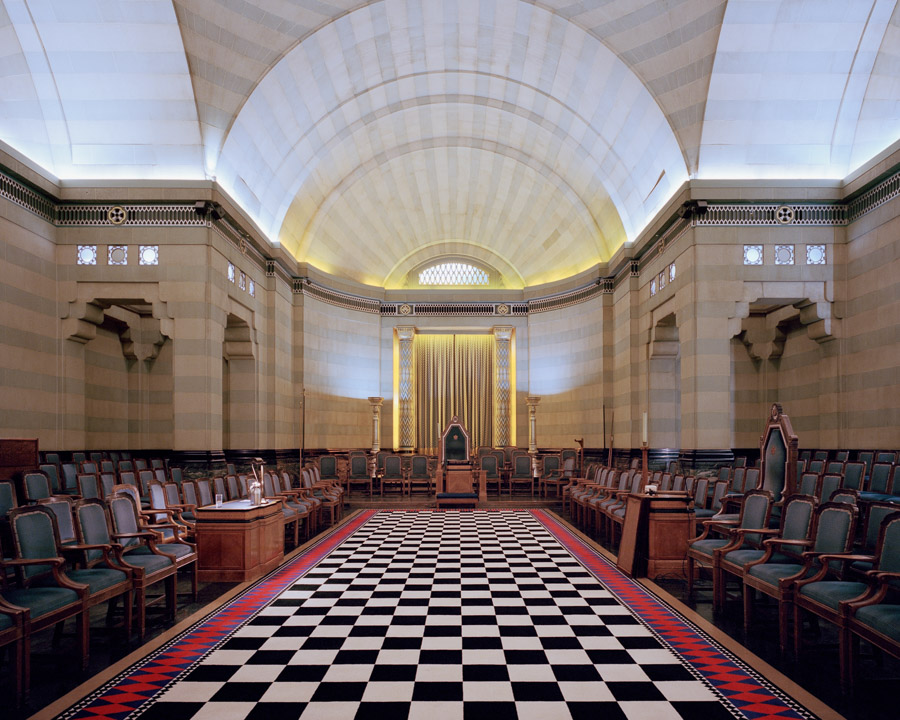 A temple in Egyptian style at 'Freemasons' Hall', London, England, 2015.