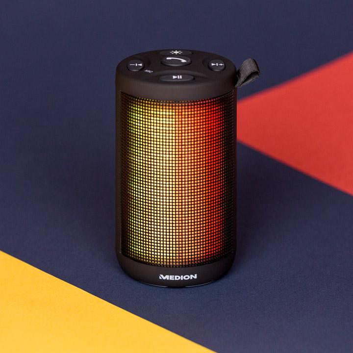 Medion - Bluetooth Lautsprecher mit LED Lichtshow